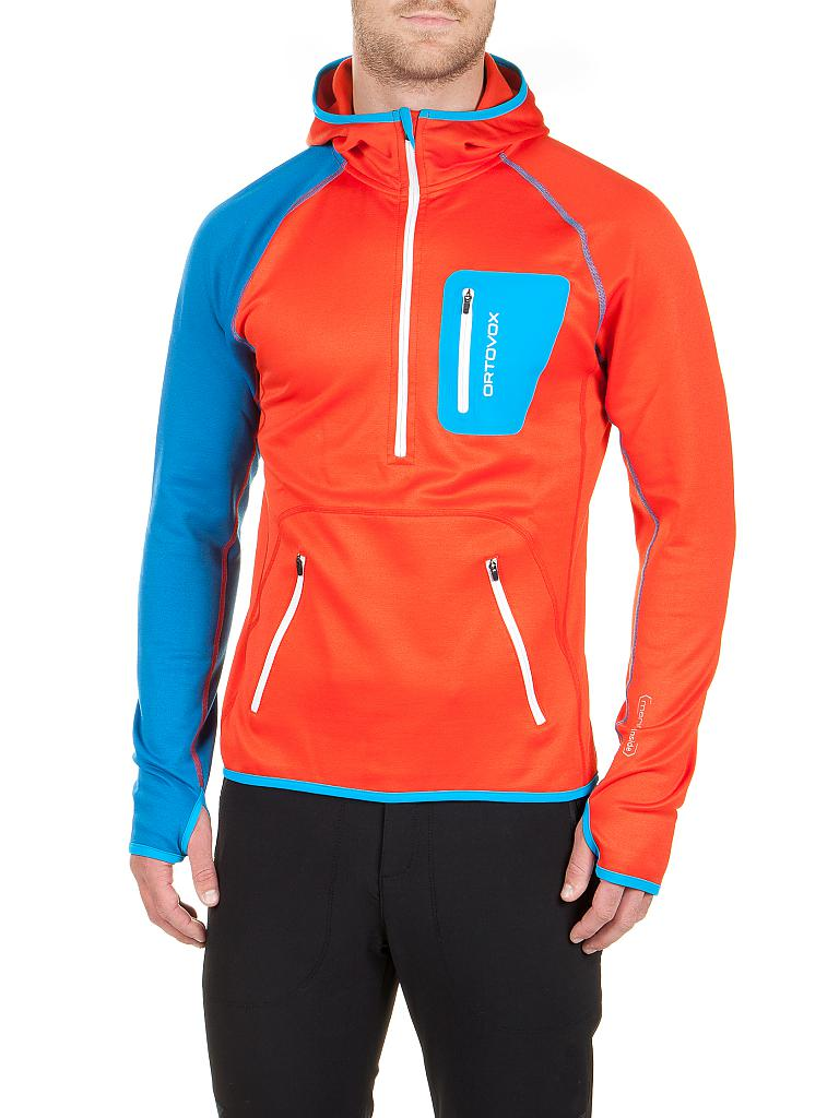 ORTOVOX | Herren Fleeceshirt Zip Neck Hoody | orange
