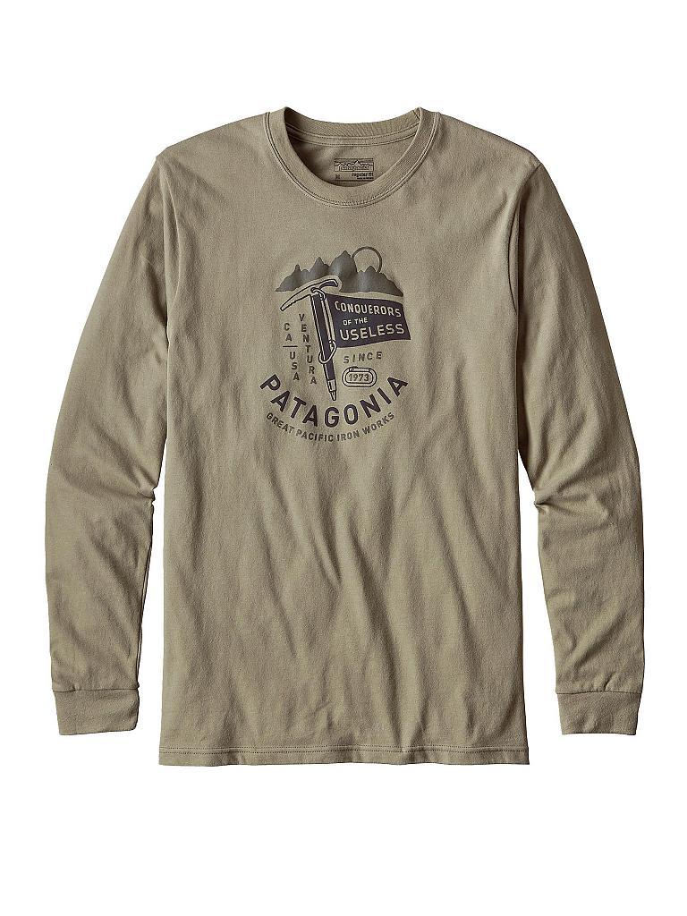 patagonia herren langarm shirt c o t u flag gr n s. Black Bedroom Furniture Sets. Home Design Ideas