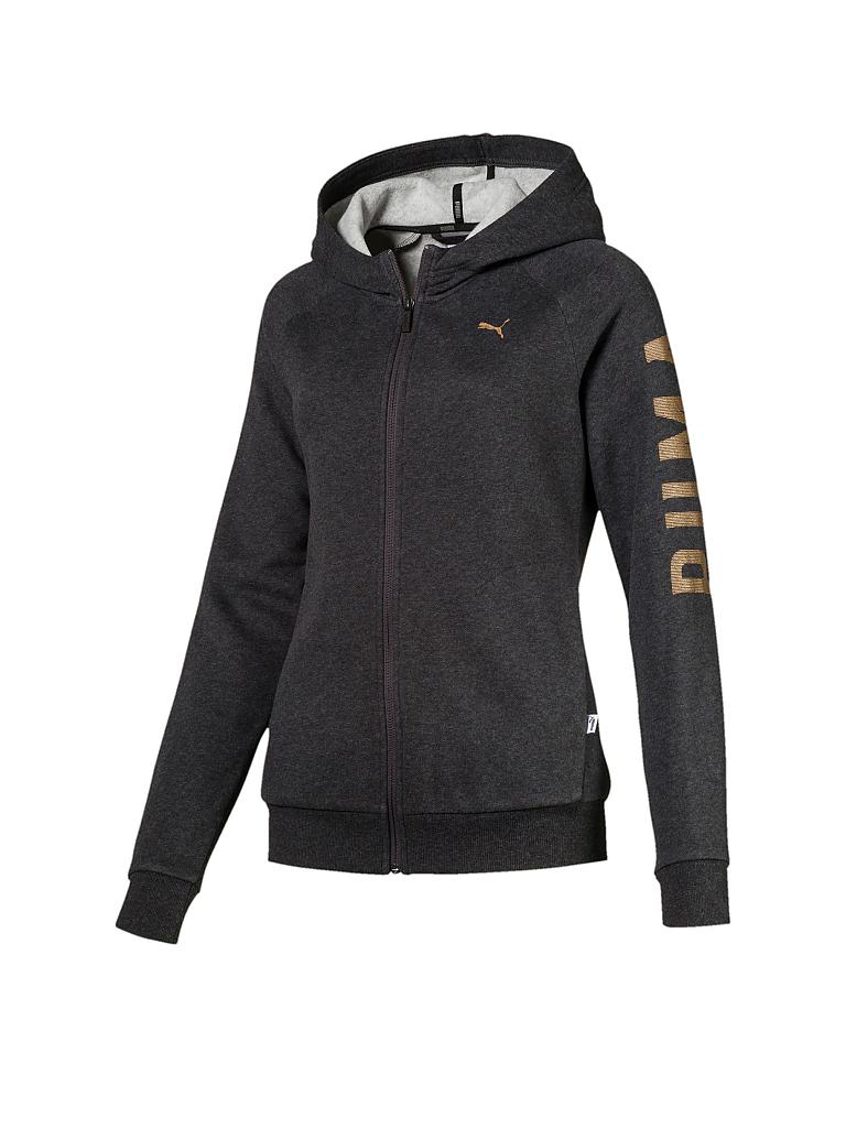 PUMA | Damen Kapuzenjacke Athletic FZ | grau