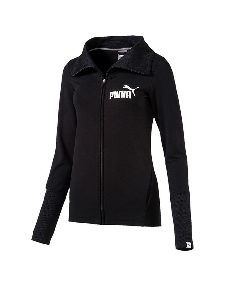 puma damen sweatjacke pwr swagger schwarz xs. Black Bedroom Furniture Sets. Home Design Ideas