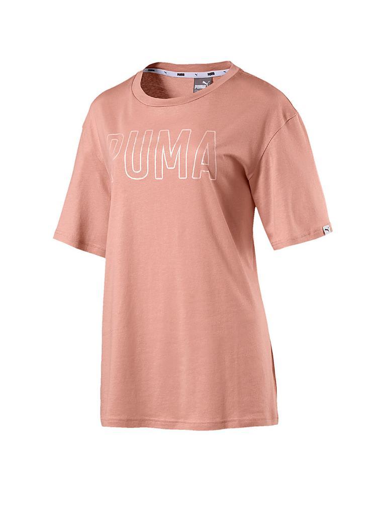 puma damen t shirt fusion elongated rosa m. Black Bedroom Furniture Sets. Home Design Ideas