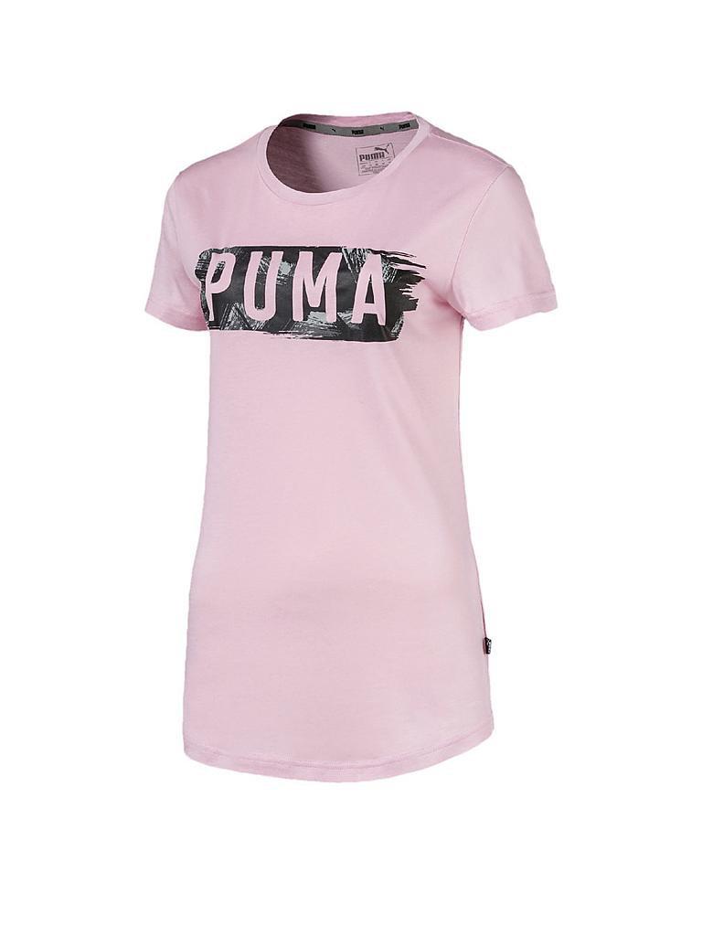 puma damen t shirt fusion graphic rosa xs. Black Bedroom Furniture Sets. Home Design Ideas