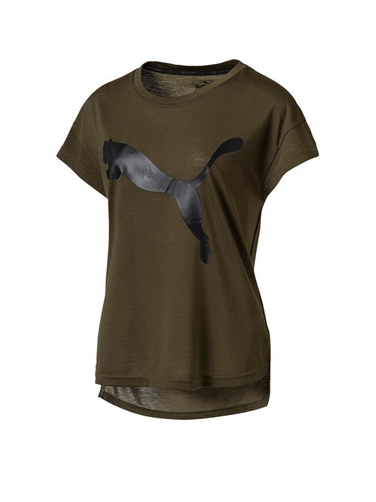 puma damen t shirt trend olive xs. Black Bedroom Furniture Sets. Home Design Ideas