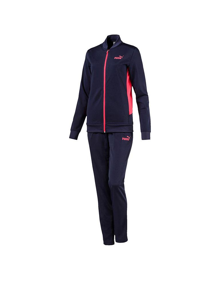 puma damen trainingsanzug classic tricot blau xs. Black Bedroom Furniture Sets. Home Design Ideas