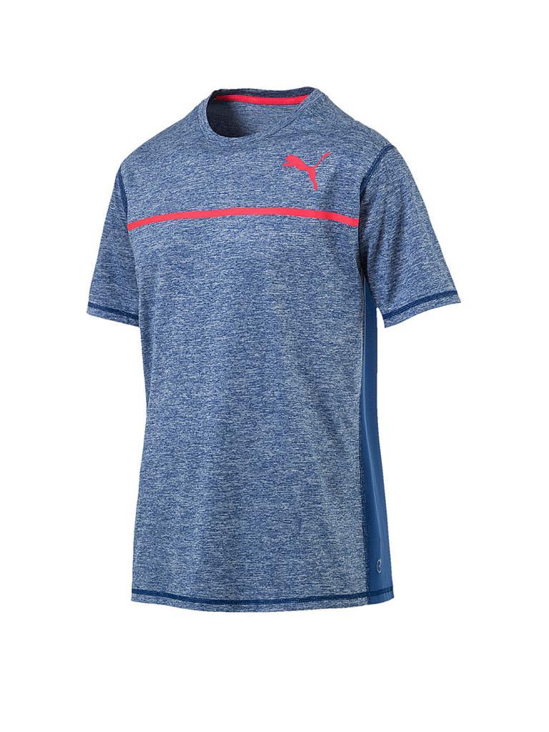 puma herren fitness shirt bonded tech blau s. Black Bedroom Furniture Sets. Home Design Ideas