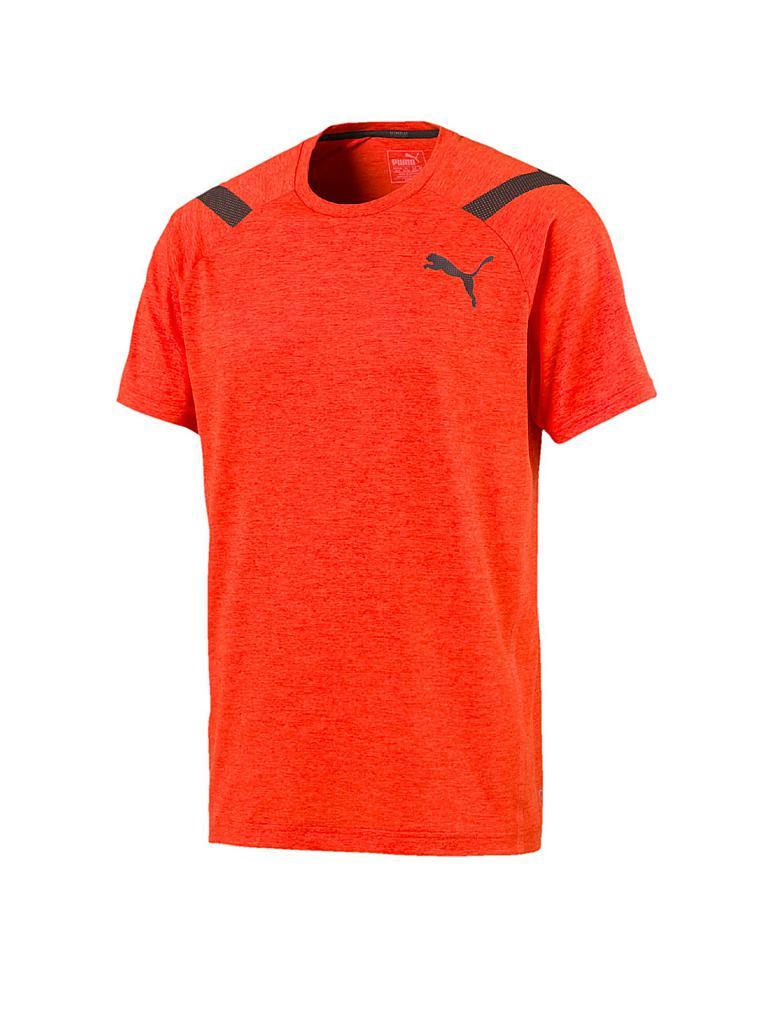 puma herren t shirt bonded orange s. Black Bedroom Furniture Sets. Home Design Ideas