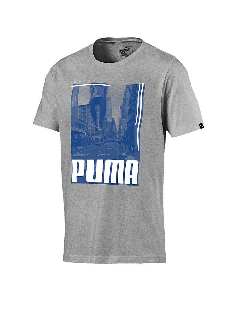 puma herren t shirt city photo grau s. Black Bedroom Furniture Sets. Home Design Ideas