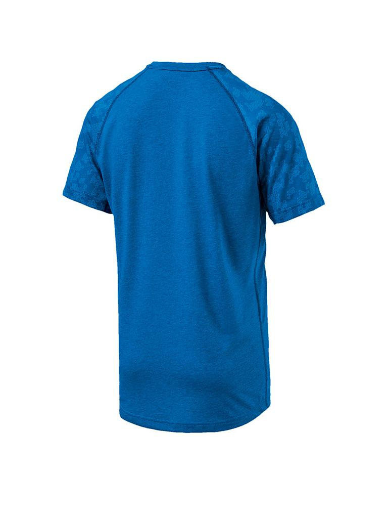 puma herren t shirt drirelease ss graphic tee blau s. Black Bedroom Furniture Sets. Home Design Ideas