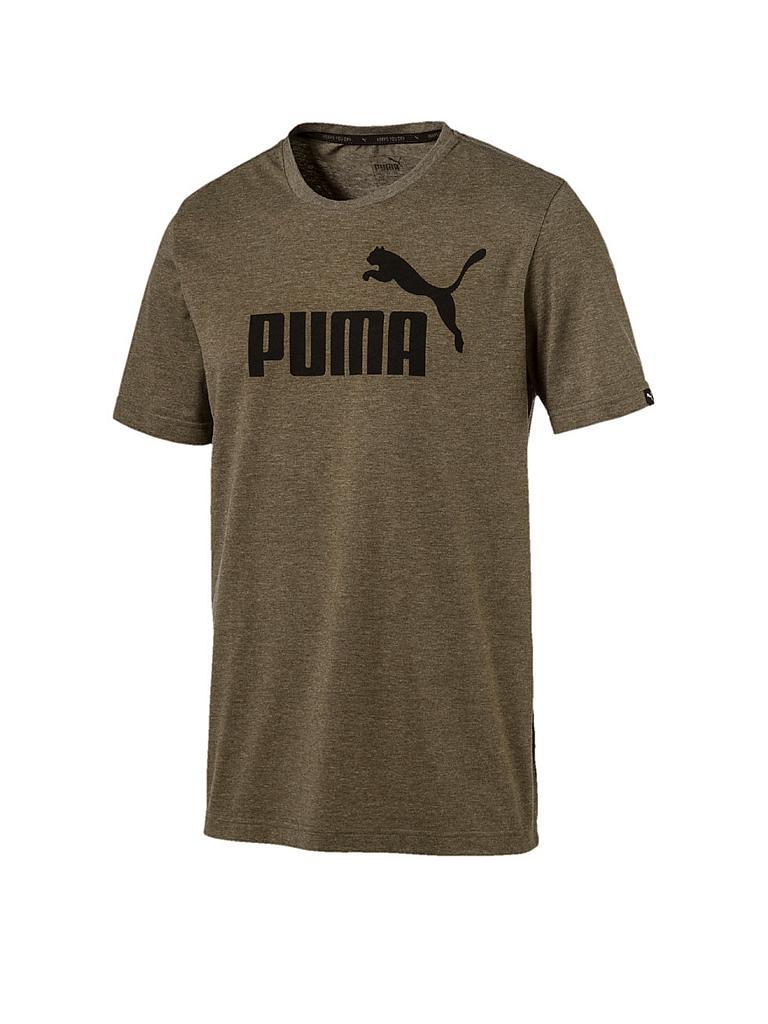 puma herren t shirt essential no 1 heather olive s. Black Bedroom Furniture Sets. Home Design Ideas