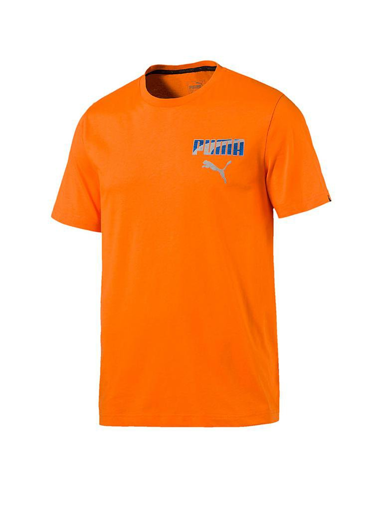 puma herren t shirt hero orange s. Black Bedroom Furniture Sets. Home Design Ideas