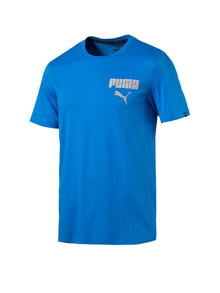 puma herren t shirt hero blau s. Black Bedroom Furniture Sets. Home Design Ideas