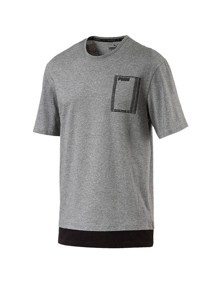 PUMA | Herren T-Shirt Summer Rebel Logo | grau