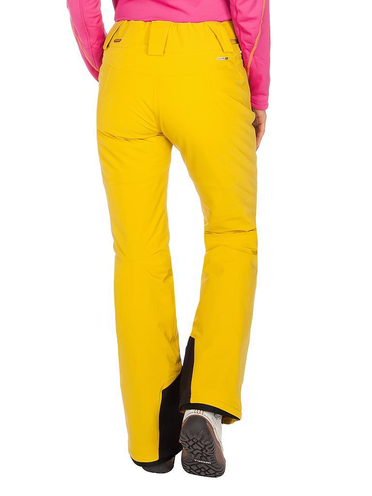 Die neue stylische Marie Skihose von Maier. Dynamische Skifahrerinnen werden von dieser elastischen Softshell - Skihose begeistert sein. Sie macht selbst extreme Bewegungen problemlos mit und sitzt immer perfekt. Das wasserabsweisende und winddichte storm.