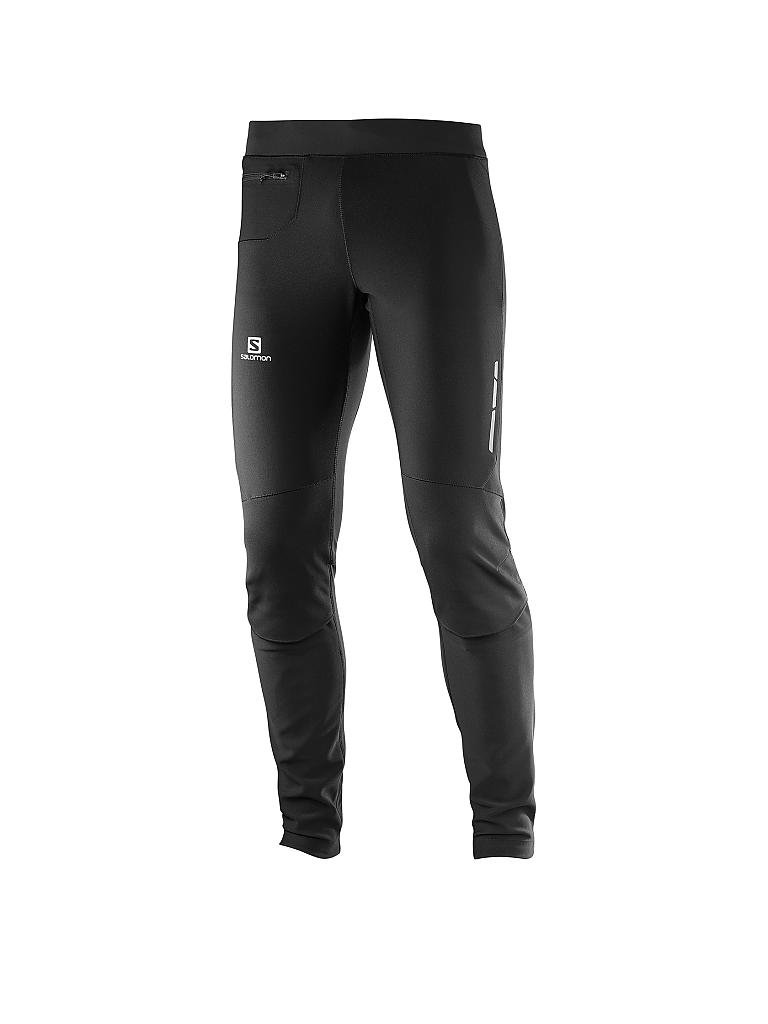 SALOMON | Herren Langlauf-Tight Momentum Softshell WS | schwarz
