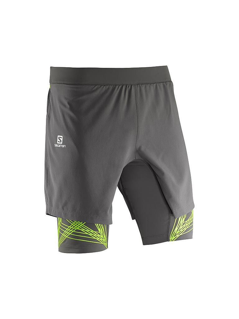 SALOMON | Herren Laufshort 2in1 Intensity | grau