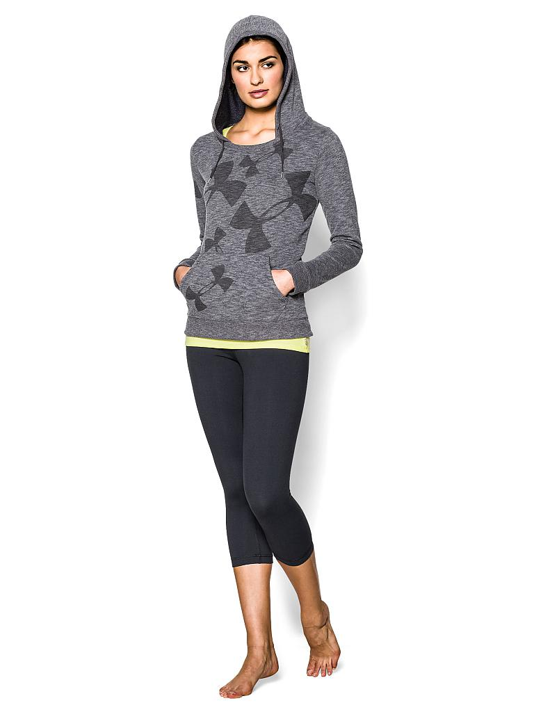 UNDER ARMOUR | Damen Fitness-Pullover mit Kapuze | grau