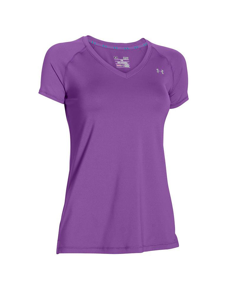 under armour damen fitness shirt lila xs. Black Bedroom Furniture Sets. Home Design Ideas