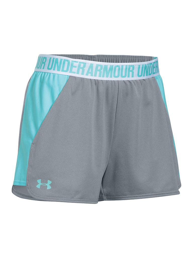 under armour damen fitness shorts ua play up 2 0 grau xxs. Black Bedroom Furniture Sets. Home Design Ideas