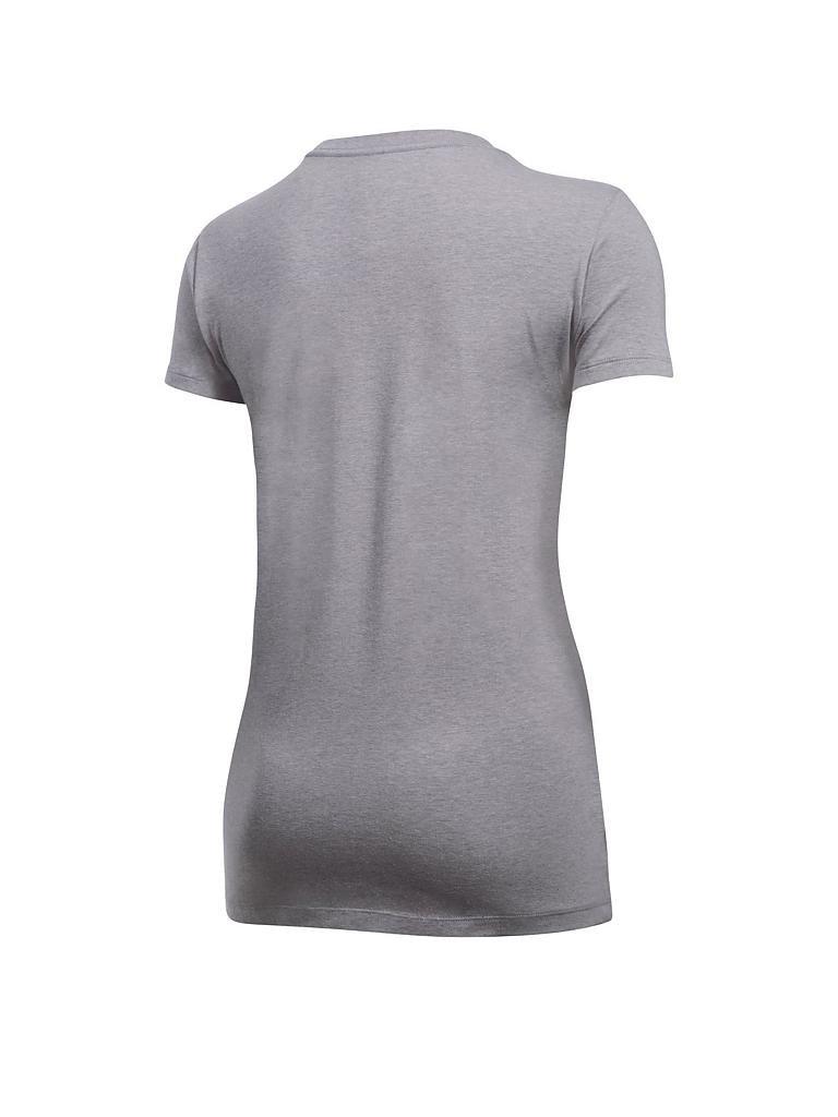 under armour damen t shirt ua big logo grau xs. Black Bedroom Furniture Sets. Home Design Ideas