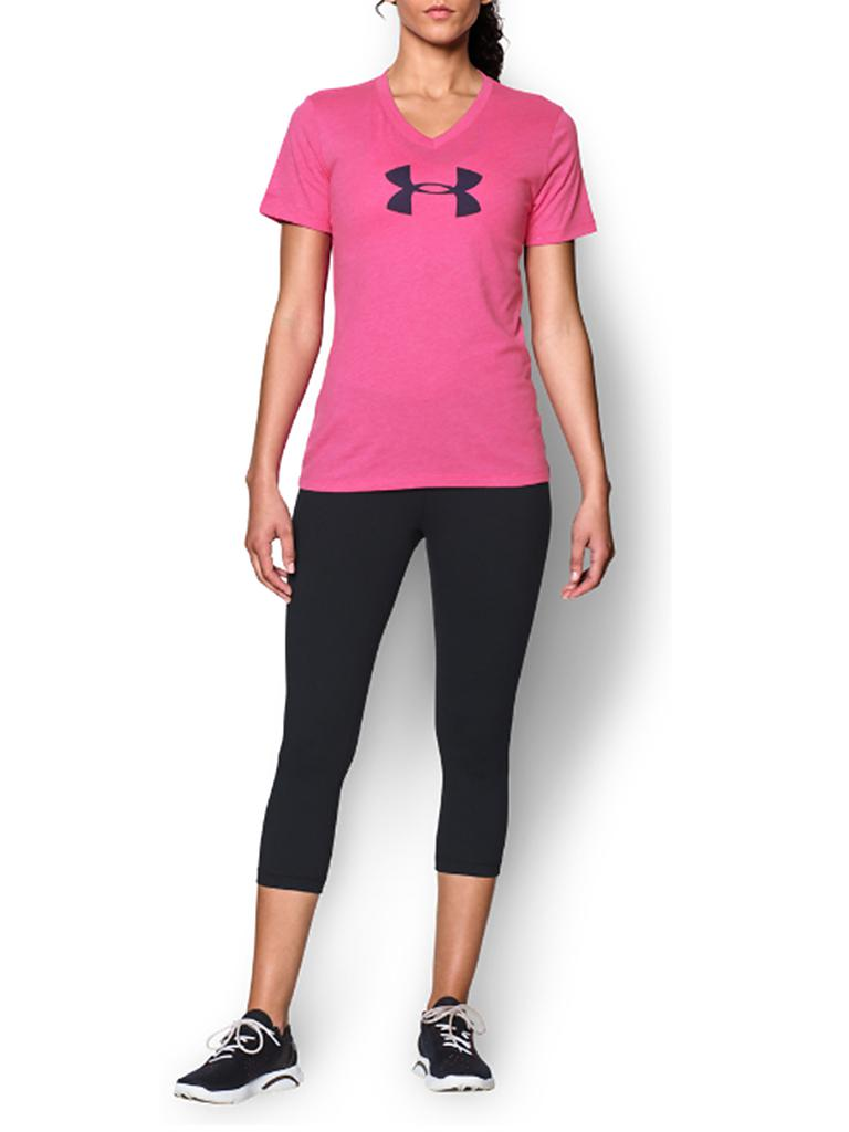 UNDER ARMOUR | Damen Trainings-Shirt Core Logo | rosa