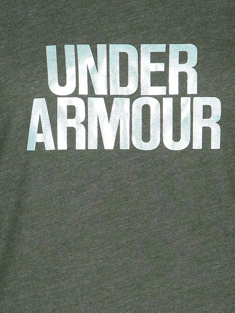 UNDER ARMOUR | Damen Trainings-Shirt Core Wordmark | grün