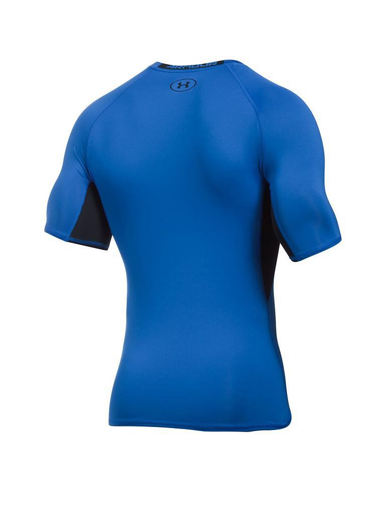 under armour herren fitness kompressions shirt heatgear armour blau s. Black Bedroom Furniture Sets. Home Design Ideas