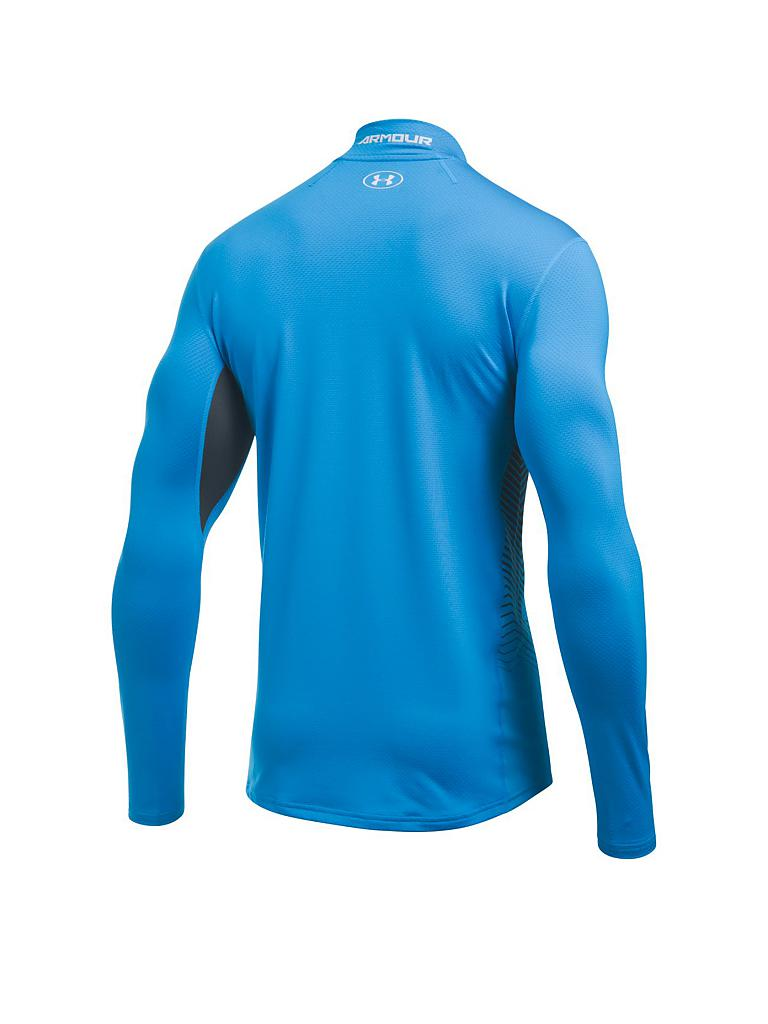 under armour herren fitness shirt coldgear reactor blau s. Black Bedroom Furniture Sets. Home Design Ideas