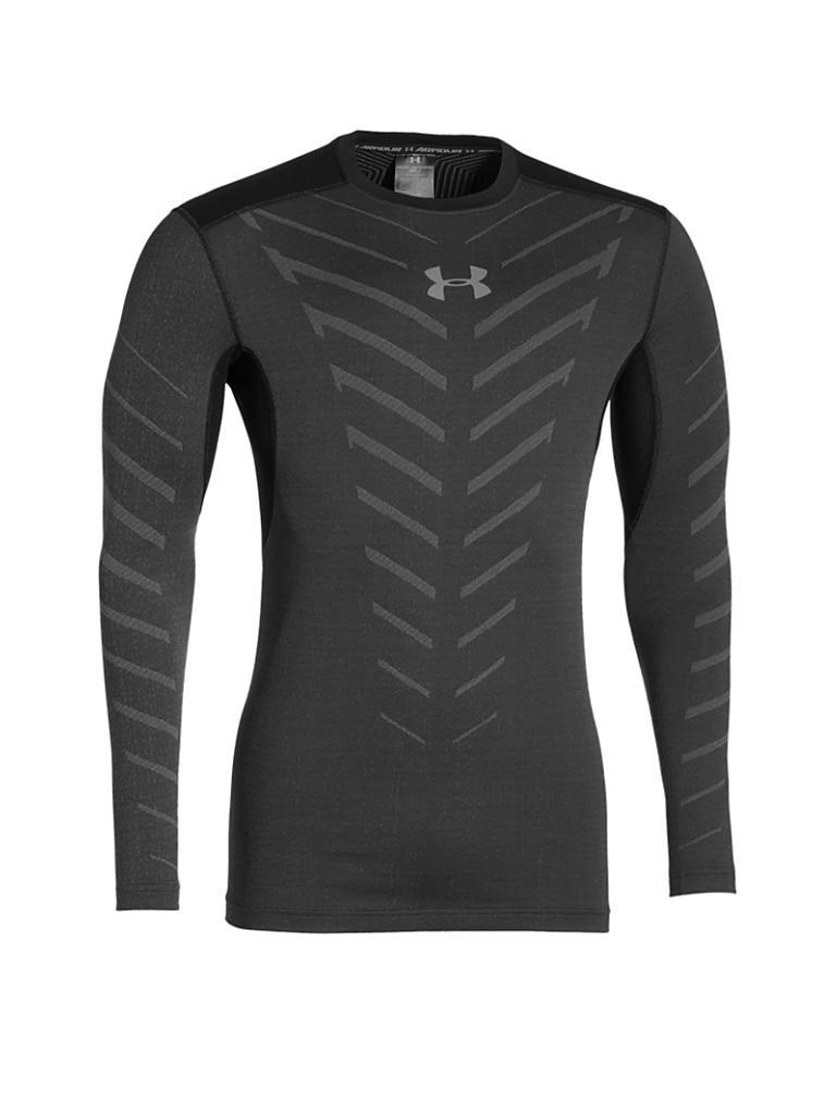 under armour herren fitness shirt coldgear infrared schwarz s. Black Bedroom Furniture Sets. Home Design Ideas