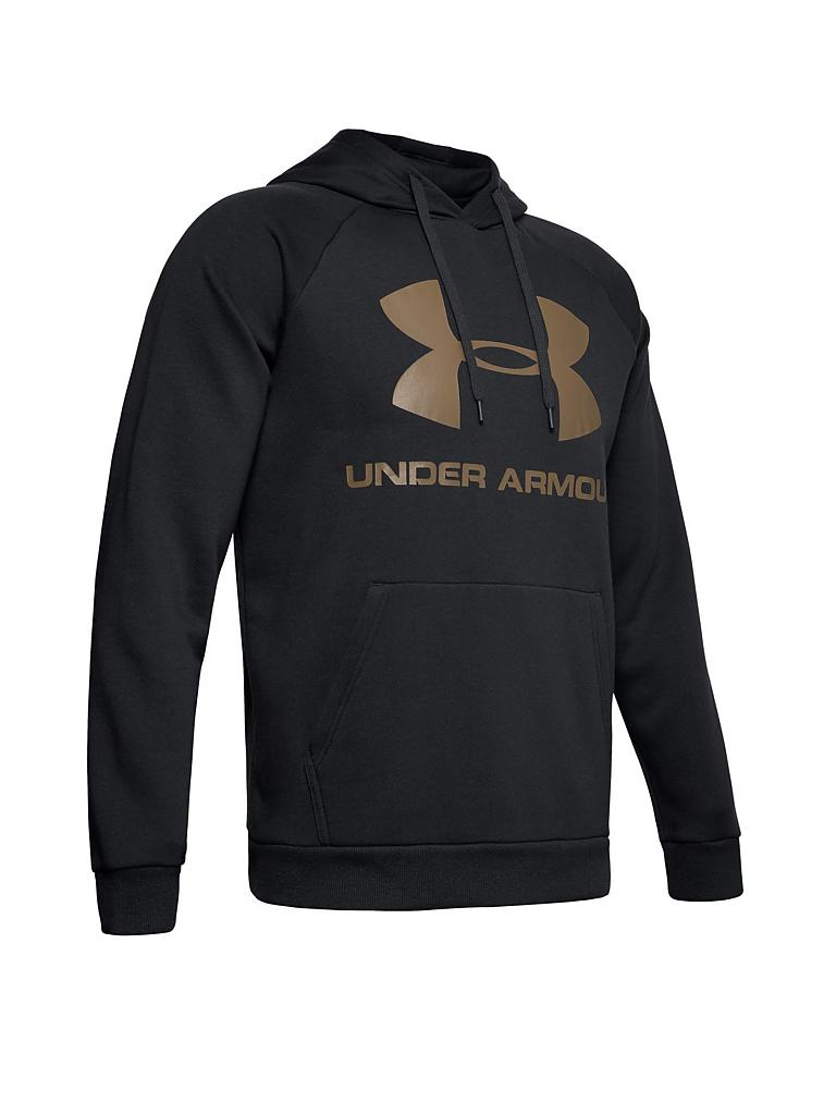 UNDER ARMOUR | Herren Hoody UA Rival Fleece Logo  | schwarz