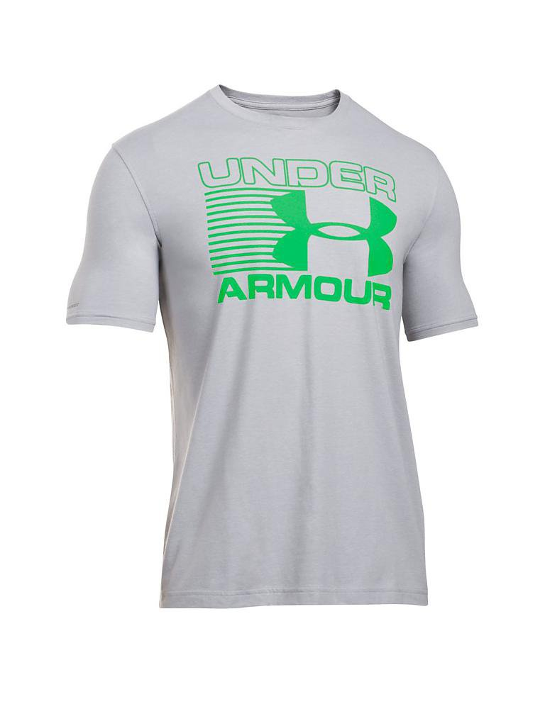 under armour herren t shirt stack attack grau s. Black Bedroom Furniture Sets. Home Design Ideas