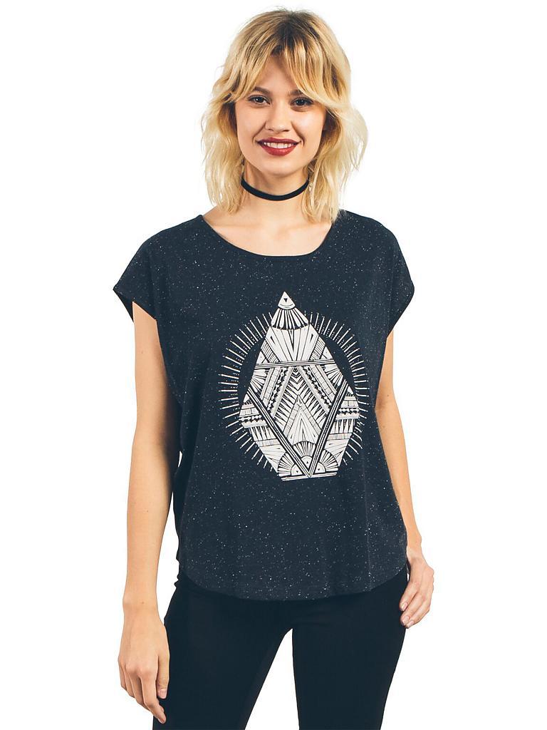 volcom damen t shirt stay cosmic schwarz xs. Black Bedroom Furniture Sets. Home Design Ideas