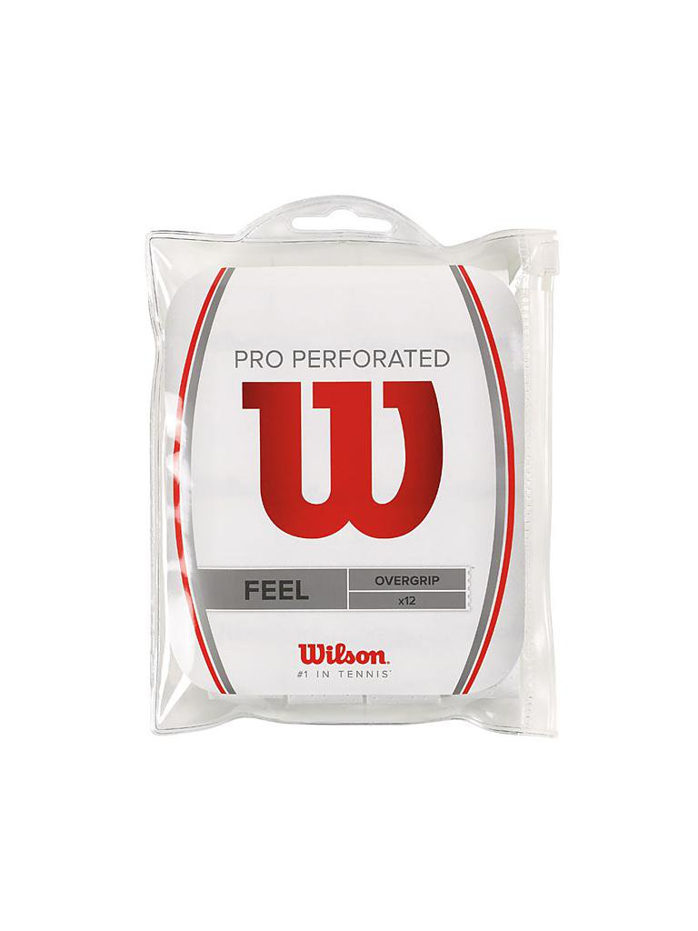 WILSON | Tennisovergrips Pro Perforated 12er | weiß