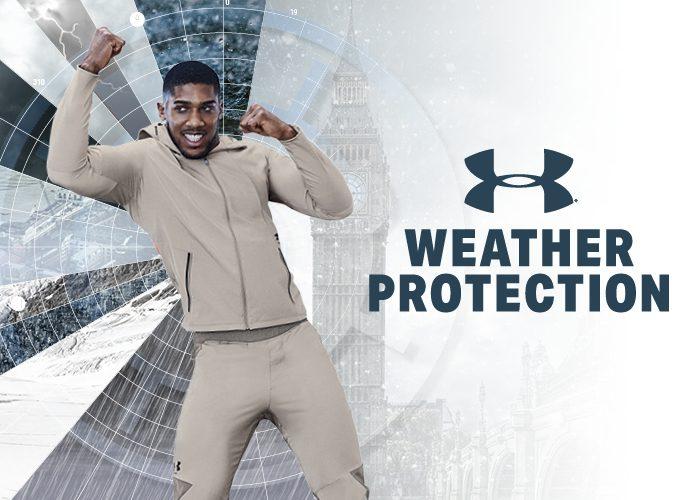 UA StormCyclone Bekleidung - Schützt vor Regen, Schnee, Wind und hält angenehm warm.